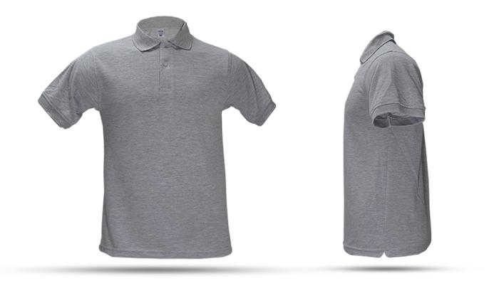 Camiseta tipo polo color gris jaspeado. Camiseta Tipo Polo. Poliéster 65% –  Algodón Peinado 35% de50e186851a5
